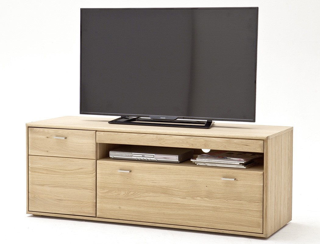 Lowboard Torrent 3 Eiche Bianco Massiv 149x56x52 Tv Mobel Tv Schrank Expendio