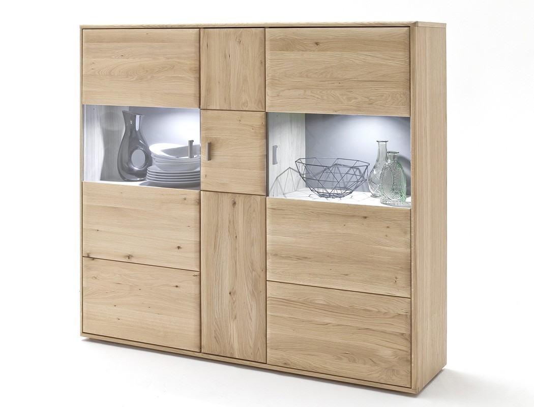 highboard torrent 5 eiche bianco massiv 154x140x39 cm. Black Bedroom Furniture Sets. Home Design Ideas