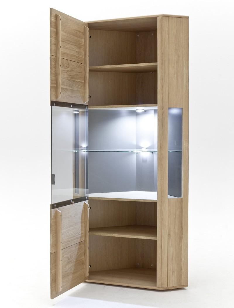 eckvitrine torrent 9 eiche bianco massiv 69x206x69 cm eckschrank wohnbereiche esszimmer. Black Bedroom Furniture Sets. Home Design Ideas