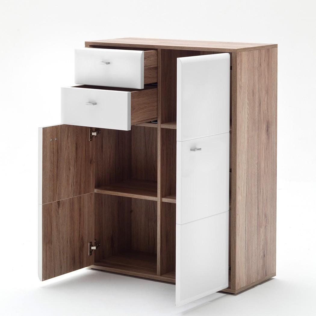 garderobe como 20 wei hochglanz 4 teilig garderobenm bel dielenm bel wohnbereiche bad. Black Bedroom Furniture Sets. Home Design Ideas