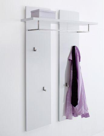 Garderobenpaneel Odin 91x135x25 cm Hochglanz weiß Wandpaneel Diele