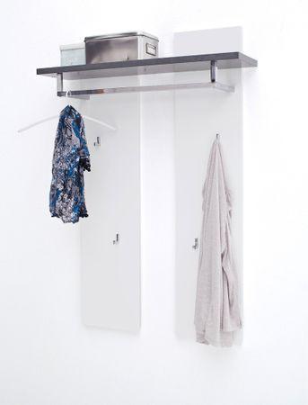 Garderobenpaneel Atlee 91x135x25 cm weiß Wandpaneel Paneel Dielenmöbel