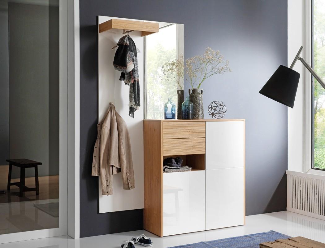 garderobe marien 10 wei hochglanz 147x202x38 cm. Black Bedroom Furniture Sets. Home Design Ideas