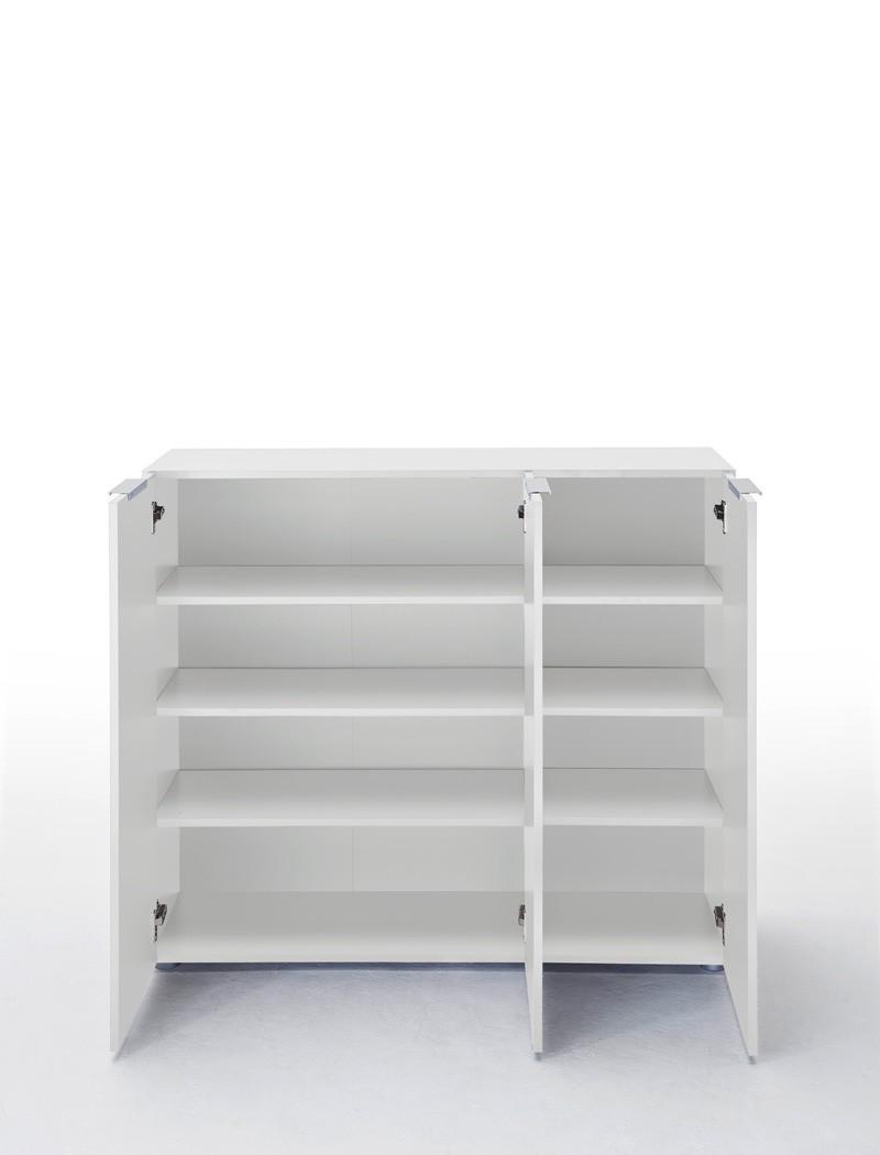 Kommode Victoria 2 Weiß Hochglanz 120x101x39 Cm Sideboard