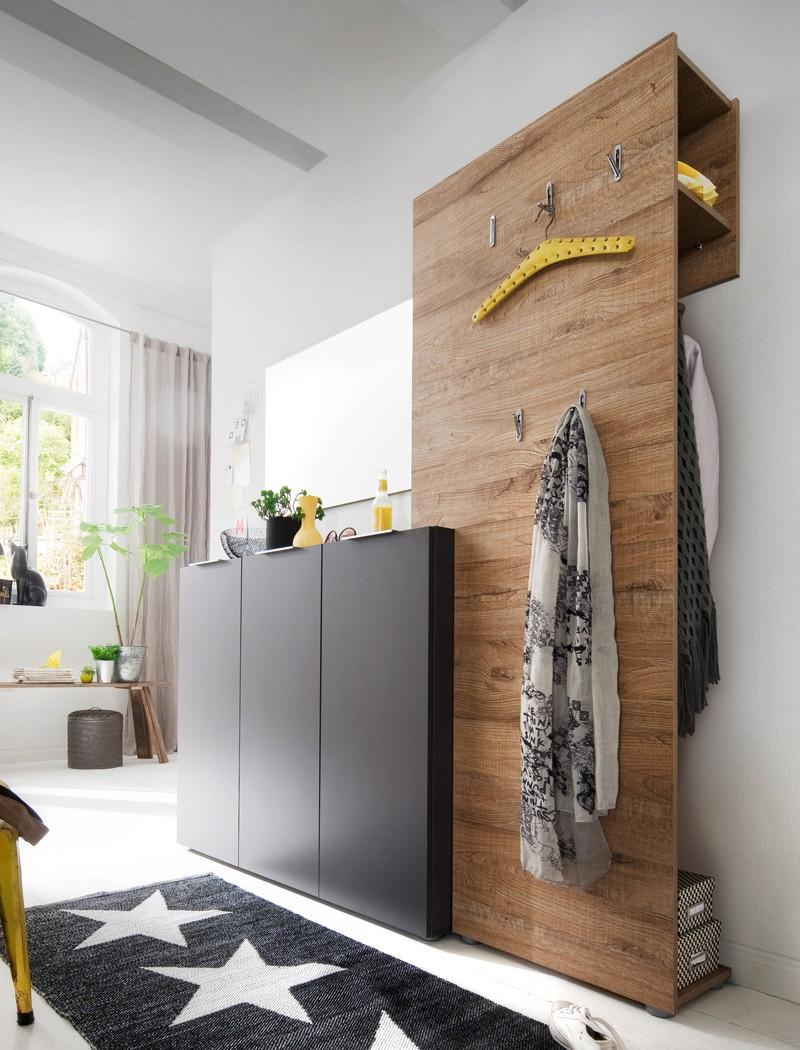 garderobe victoria 10 anthrazit eiche 3 teilig. Black Bedroom Furniture Sets. Home Design Ideas