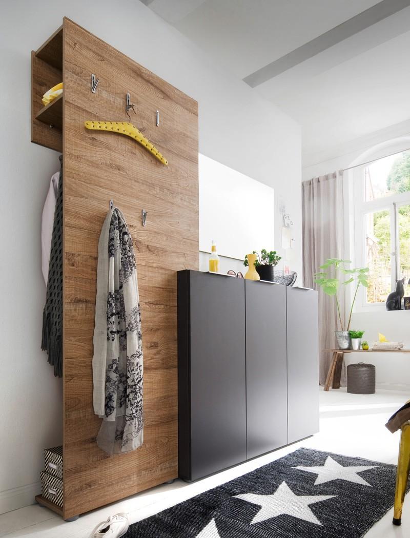 Exquisit Garderobe Eiche Weiß Ideen Von Victoria 10 Anthrazit 3-teilig Garderobenmöbel Garderobenset Dielenmöbel