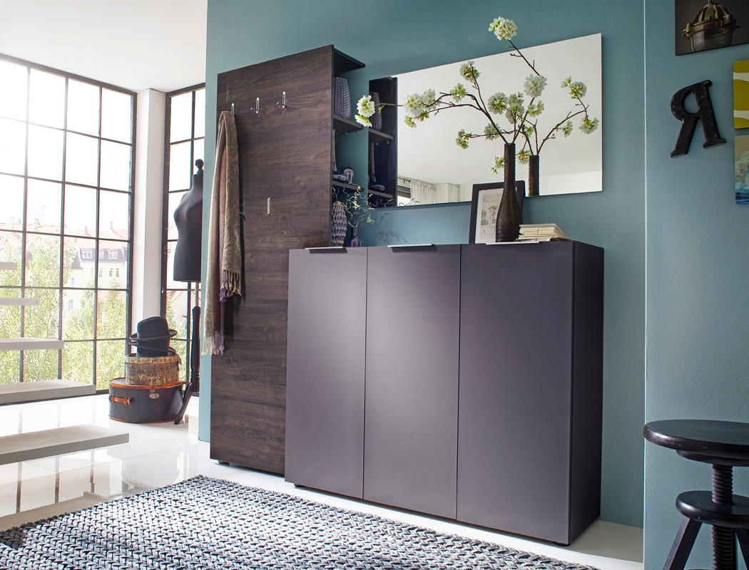 garderobe victoria 11 anthrazit wenge 3 teilig garderobenset flurm bel wohnbereiche bad. Black Bedroom Furniture Sets. Home Design Ideas