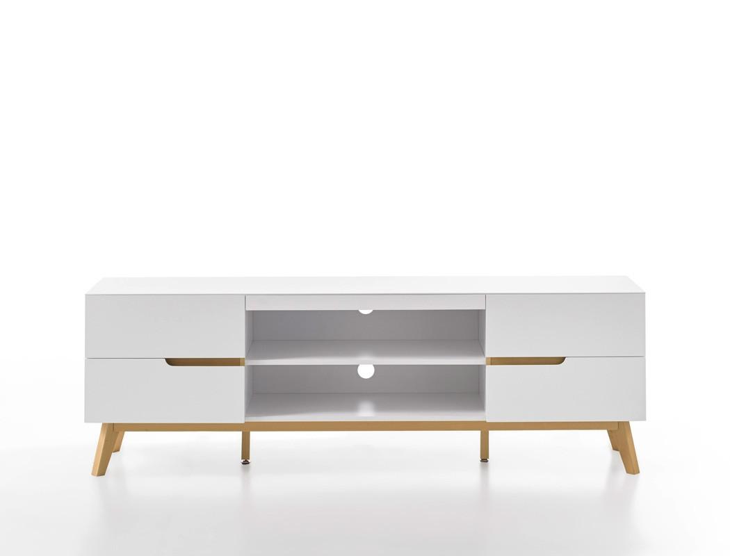 lowboard celio 1 wei eiche 169x56x40 cm tv board tv m bel schrank wohnbereiche wohnzimmer tv. Black Bedroom Furniture Sets. Home Design Ideas