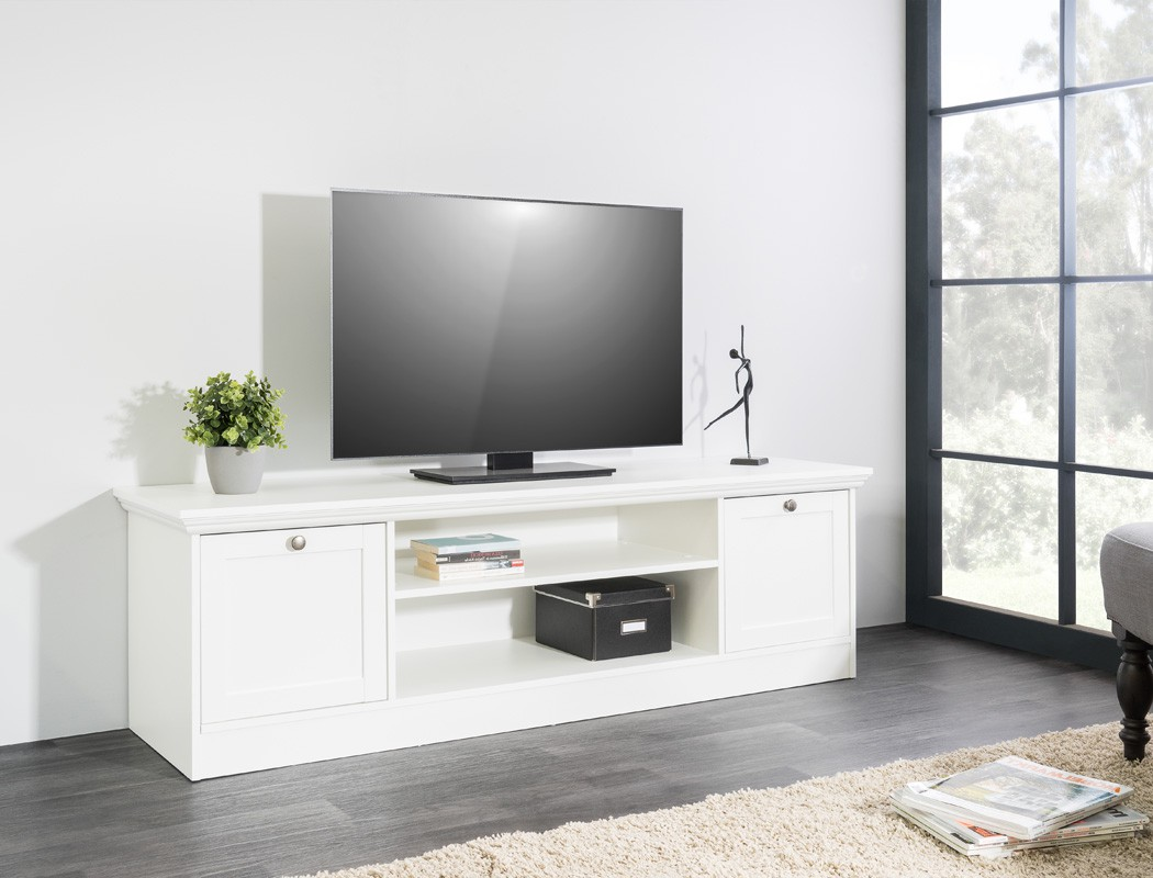 Lowboard weiß 160x48x45 cm TV-Board TV-Schrank TV-Möbel Wohnzimmer ...