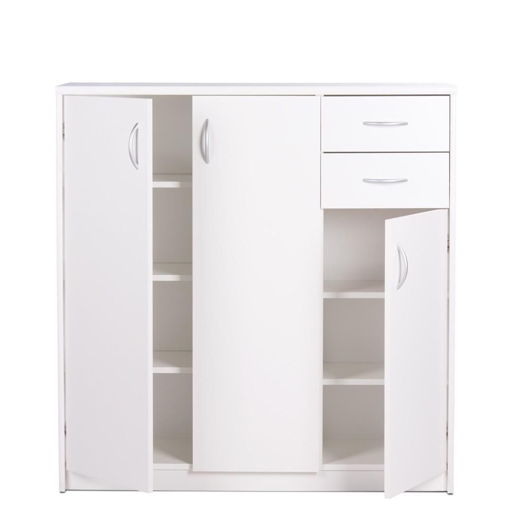 highboard koblenz 1 wei 109x111x35 cm schrank wohnzimmer esszimmer wohnbereiche esszimmer. Black Bedroom Furniture Sets. Home Design Ideas