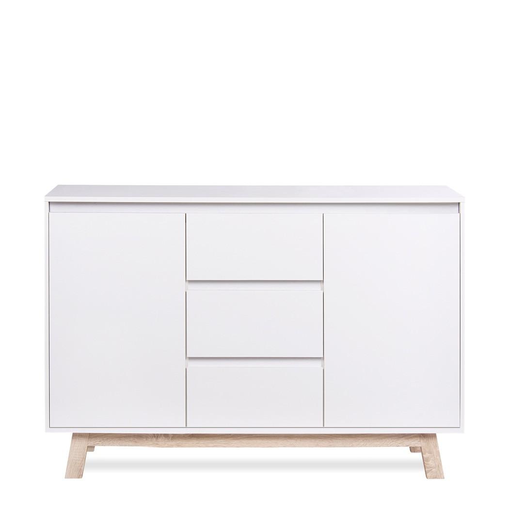 Wohnzimmer Kommode | Kommode Anzo 2 Weiss 120x85x40 Cm Sideboard Schrank Wohnzimmerschrank