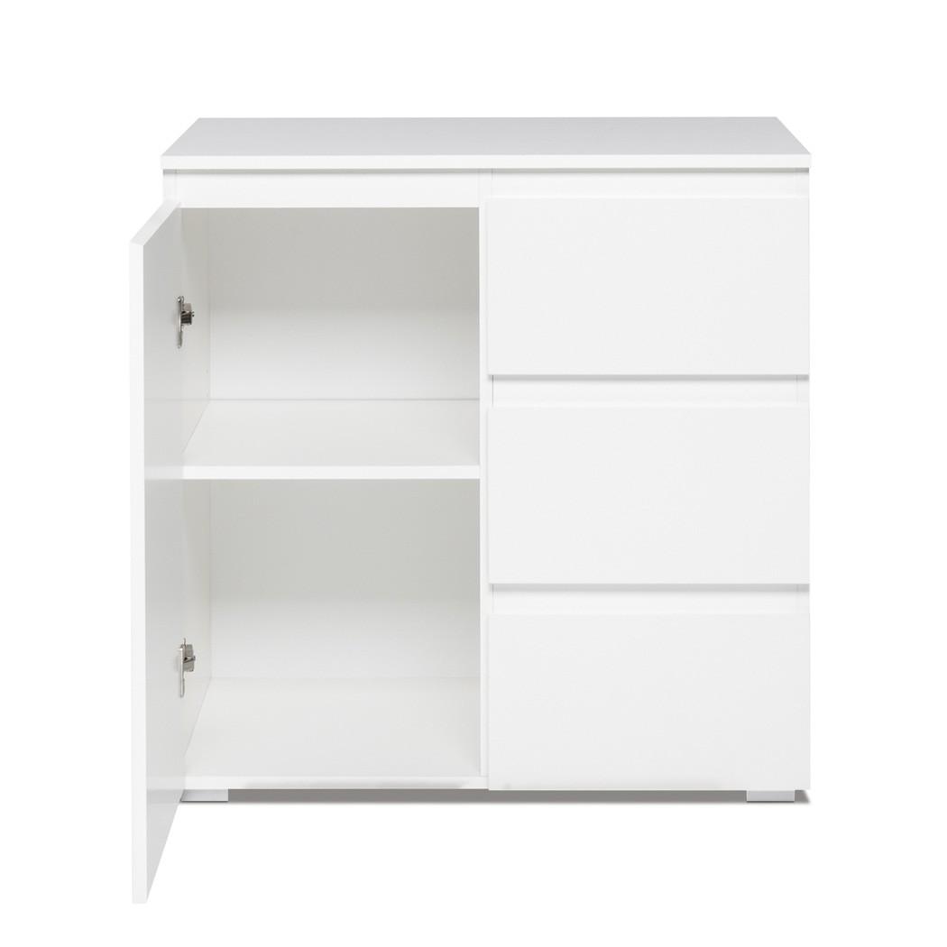Kommode Imke 2 Weiß 80x80x40 Cm Sideboard Schrank Wohnzimmerschrank  Schubkastenkommode Wohnzimmer Esszimmer U2013 Bild 2