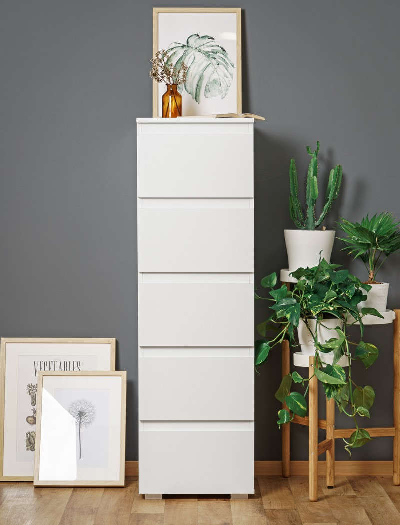 schubkastenkommode imke 6 wei 40x131x45 cm kommode. Black Bedroom Furniture Sets. Home Design Ideas