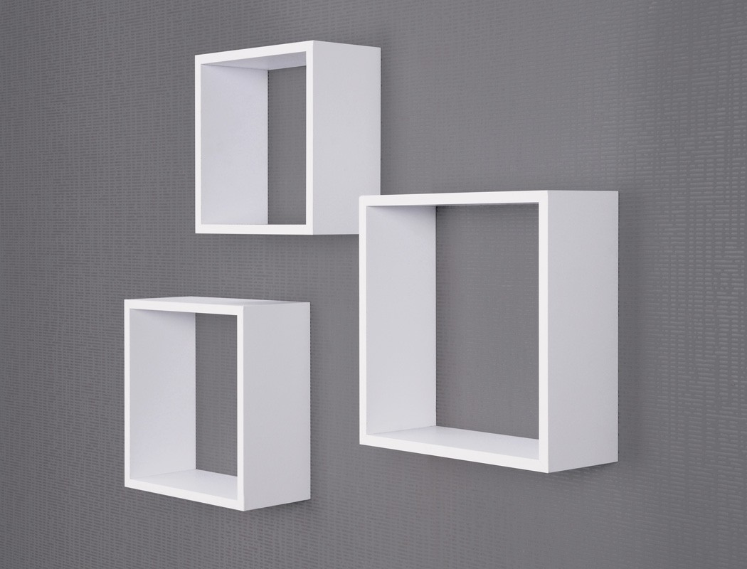 Wandregal Cloe Set 3 Teilig Weiss Wandboard Regal Hangeregal