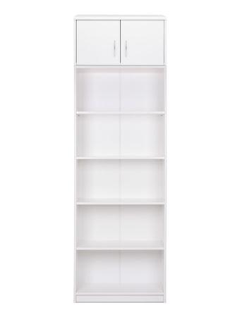 Bücherregal Koblenz 123 mit Aufsatz weiß 68x224x35 cm Standregal Regal