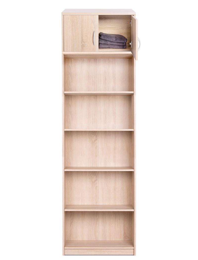 b cherregal koblenz 123 mit aufsatz eiche sonoma 68x224x35 cm regal wohnbereiche wohnzimmer regale. Black Bedroom Furniture Sets. Home Design Ideas