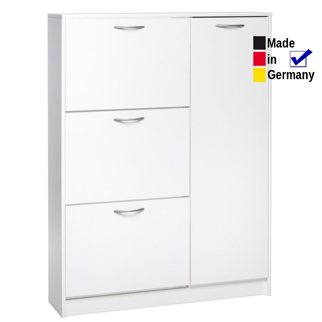 schuhschrank maik 3 wei 95x124x25 cm schuhkipper. Black Bedroom Furniture Sets. Home Design Ideas