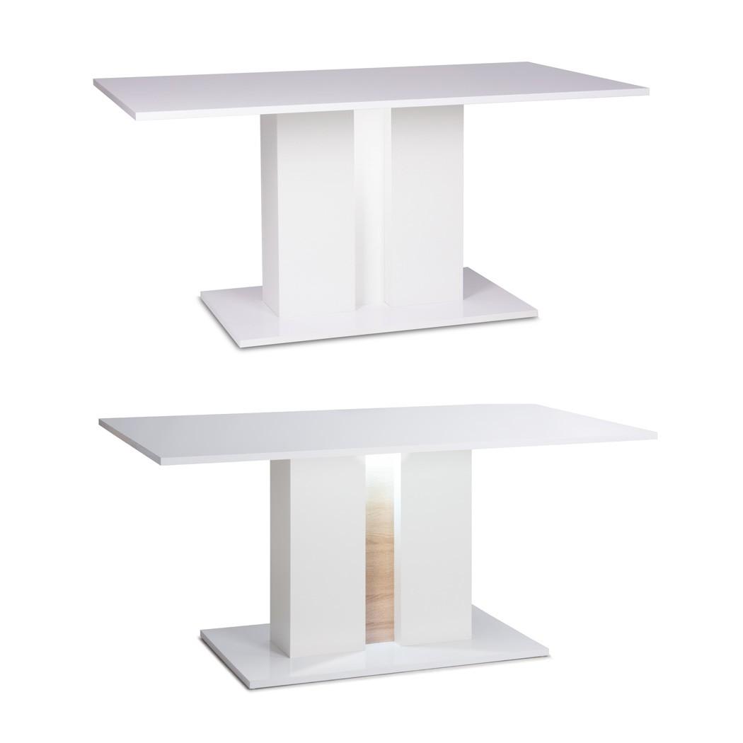 s ulentisch gladys 1 hochglanz wei 160x90x75 esstisch mit. Black Bedroom Furniture Sets. Home Design Ideas