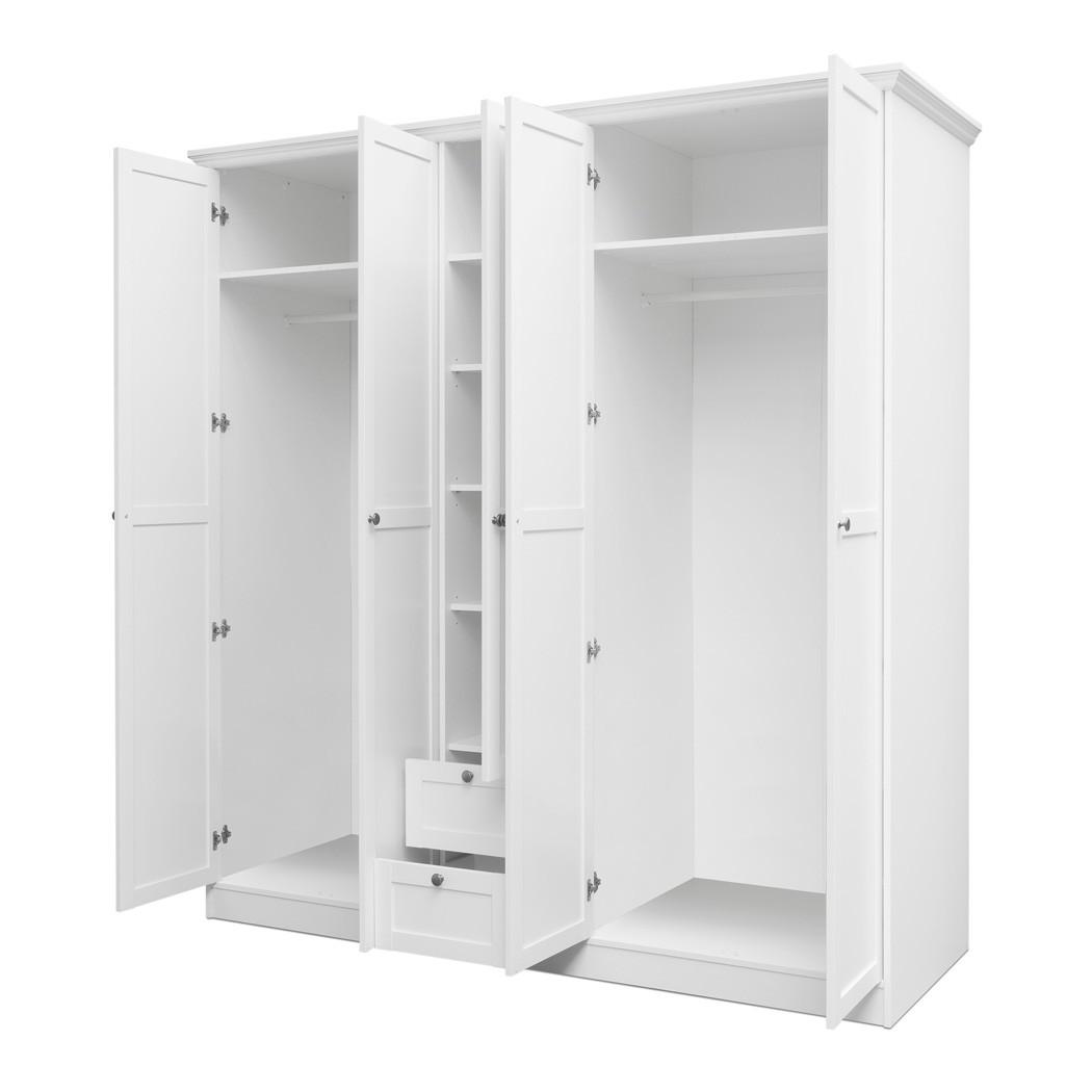Kleiderschrank Landström 19 weiß 190x200x67cm Drehtürenschrank ...