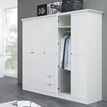Kleiderschrank Landström 19 weiß 190x200x67cm Drehtürenschrank Schrank