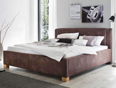 Polsterbett Venezia 140x200 dunkelbraun Singlebett Jugendbett Bett