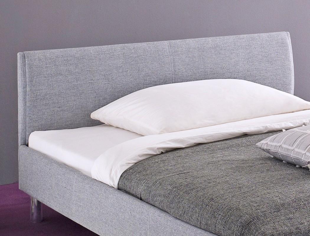polsterbett holger 140x200 grau singlebett jugendbett rost matratze wohnbereiche schlafzimmer. Black Bedroom Furniture Sets. Home Design Ideas