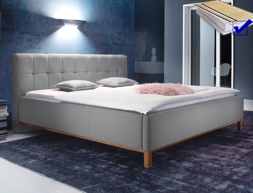 polsterbett baldur 180x200 hellgrau doppelbett lattenrost matratze wohnbereiche schlafzimmer. Black Bedroom Furniture Sets. Home Design Ideas