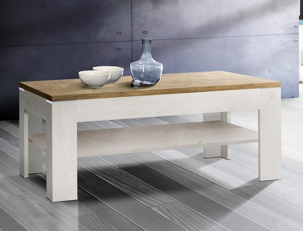 couchtisch durio 17 pinie wei 120x75x43 cm sofatisch beistelltisch wohnbereiche wohnzimmer. Black Bedroom Furniture Sets. Home Design Ideas