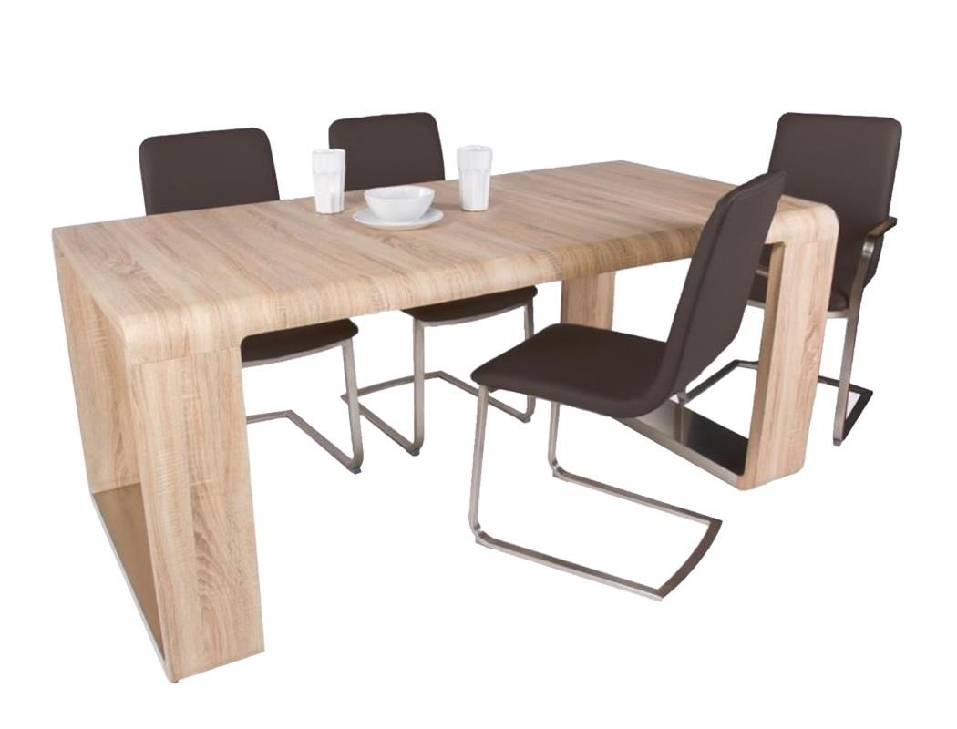 esstisch marlon sonoma eiche 100 180 x90x78 cm esszimmertisch tisch wohnbereiche esszimmer esstische. Black Bedroom Furniture Sets. Home Design Ideas