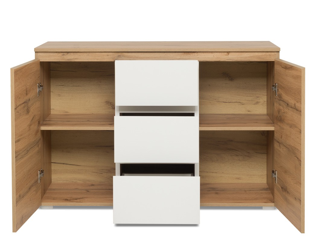 sideboard imke 4 honigeiche 120x80x40 cm anrichte kommode. Black Bedroom Furniture Sets. Home Design Ideas