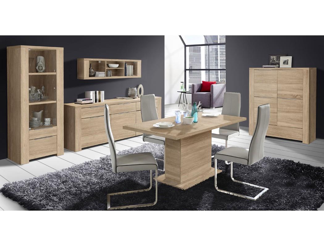 esszimmer calvin 80 eiche sonoma 5 teilig s ulentisch vitrine sideboard m bel m bel sets. Black Bedroom Furniture Sets. Home Design Ideas