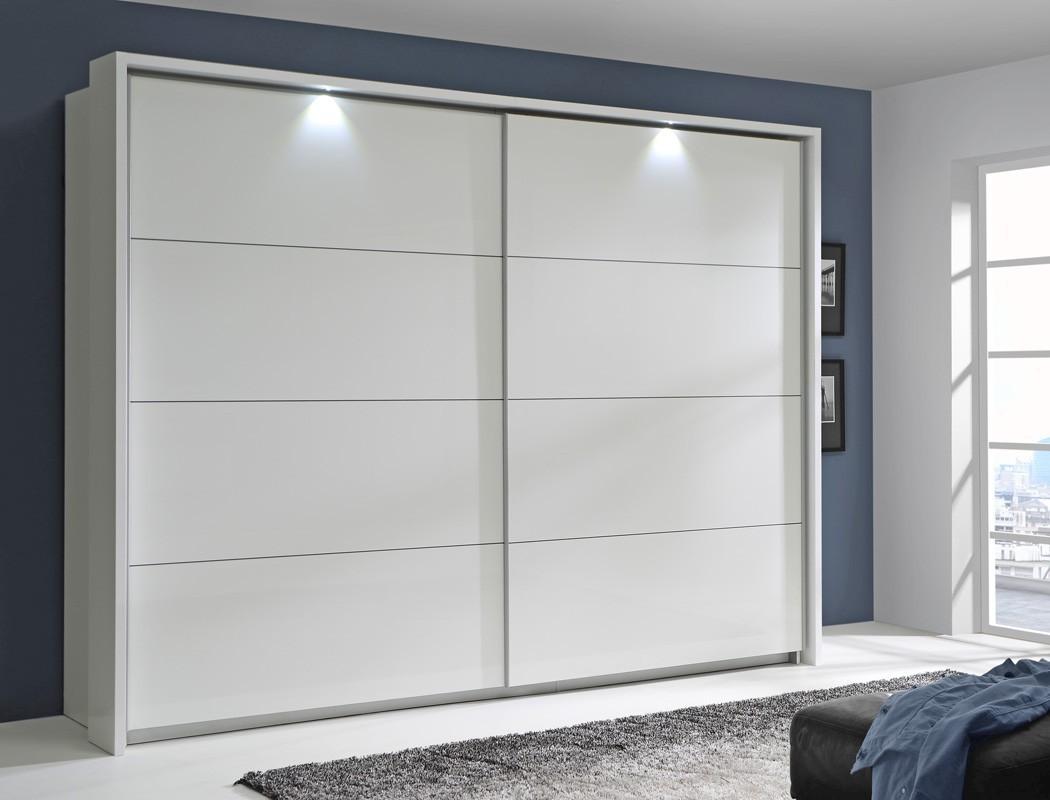 Schlafzimmer Sophie 20b Weiss Hochglanz Doppelbett Komplett