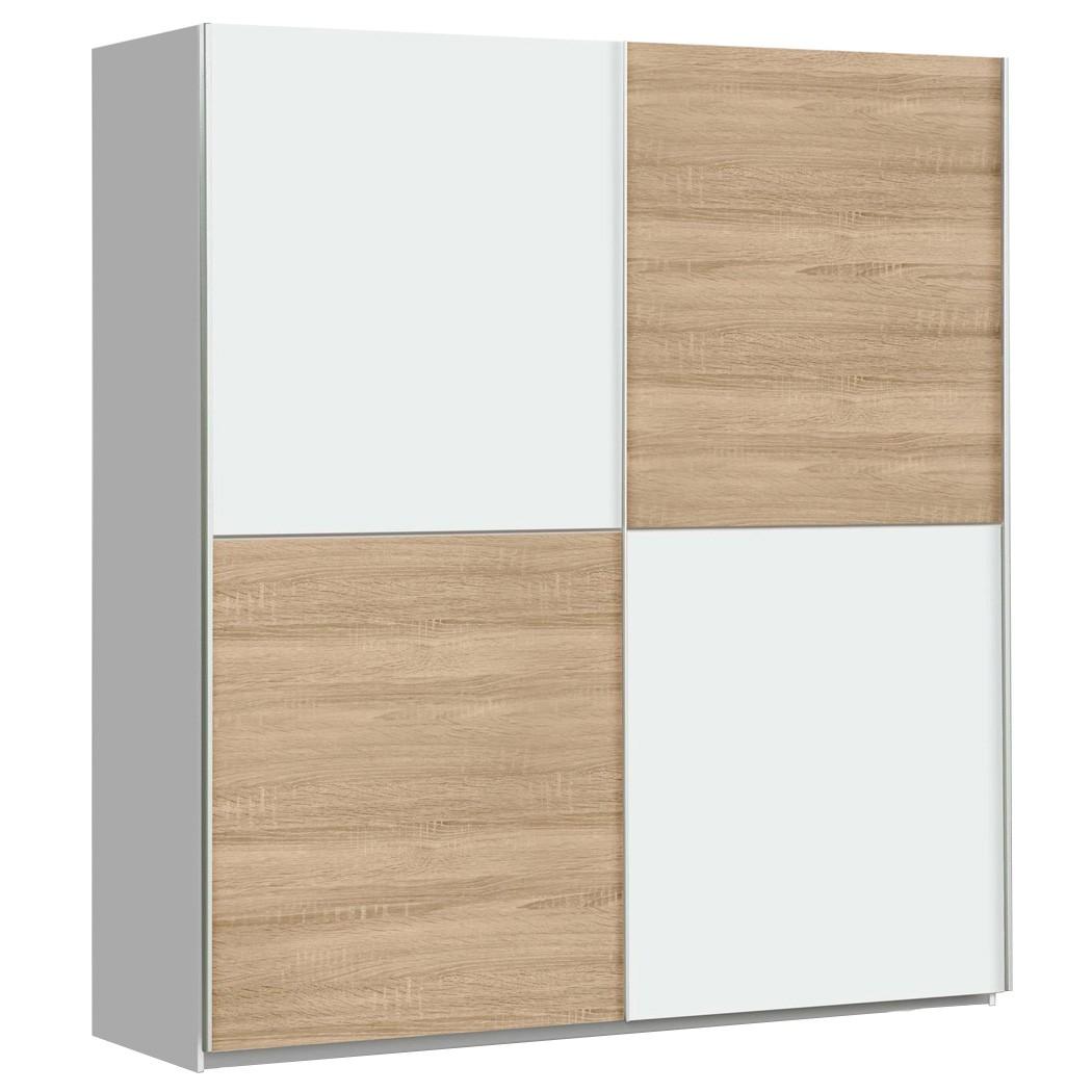 schwebet renschrank wibold 1 wei sonoma eiche 170x191x61 cm schrank wohnbereiche schlafzimmer. Black Bedroom Furniture Sets. Home Design Ideas