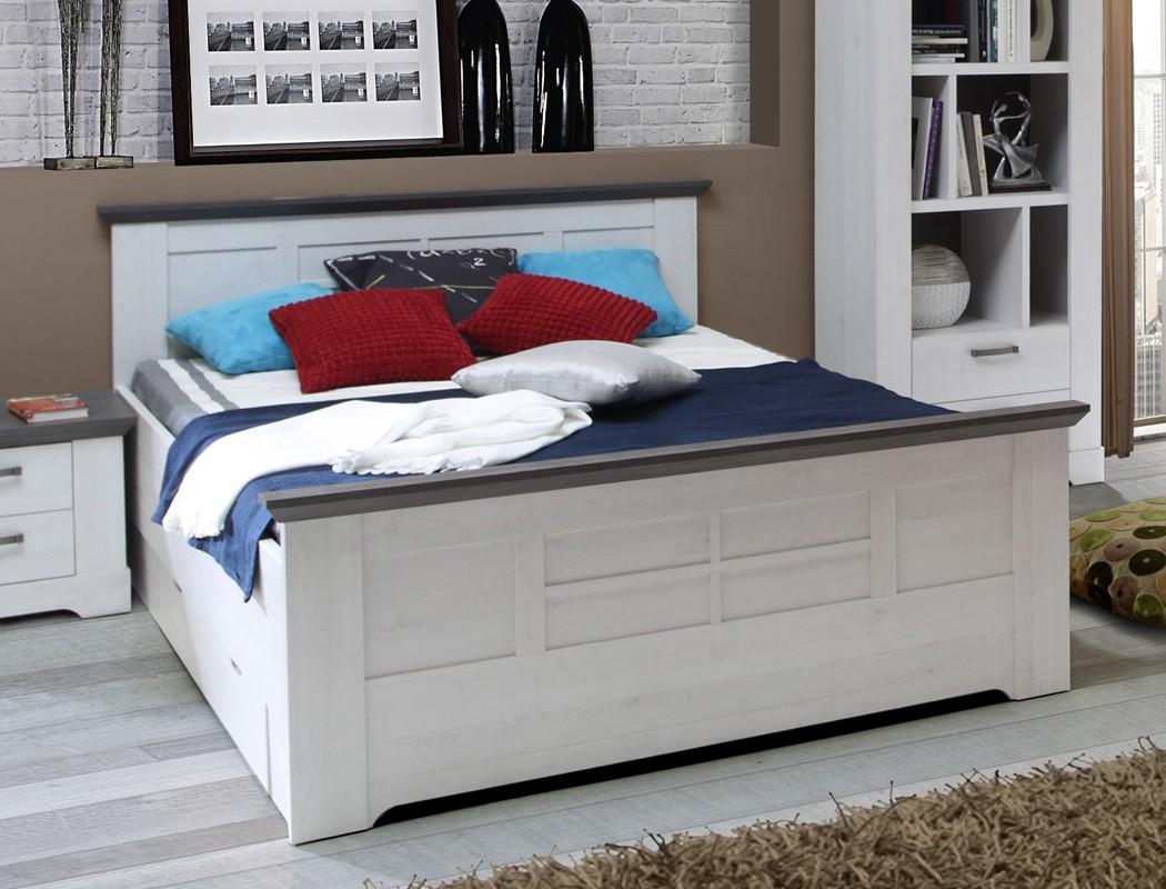 jugendzimmer gaston 67 wei grau 5 teilig schlafzimmer schneeeiche wohnbereiche schlafzimmer. Black Bedroom Furniture Sets. Home Design Ideas