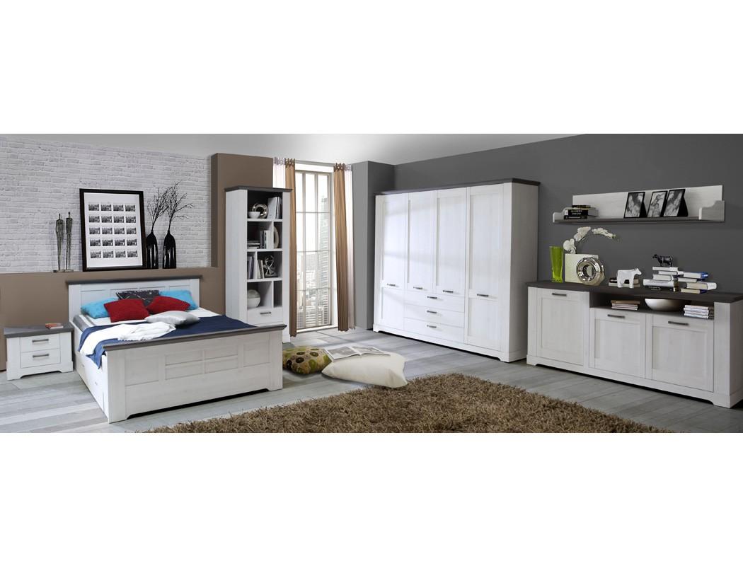 schlafzimmer gaston 68 wei grau 8 teilig jugendzimmer schneeeiche wohnbereiche schlafzimmer. Black Bedroom Furniture Sets. Home Design Ideas