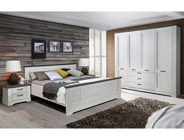 Schlafzimmer Gaston 69 weiß grau 4-teilig Seniorenzimmer Schneeeiche