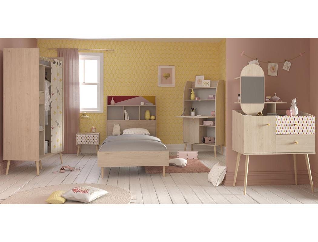 Kinderzimmer anja 1 eiche brooklyn 5 teilig jugendzimmer for Jugendzimmer kinderzimmer