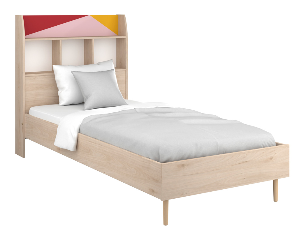 Kinderbett Anja Eiche Brooklyn mit Regal Bett 90x200 Jugendbett ...
