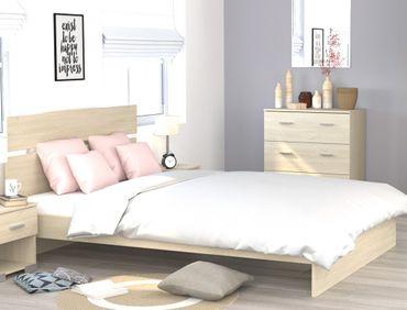 Doppelbett Galeno Eiche Brooklyn 160x200 Ehebett Bettgestell Bett