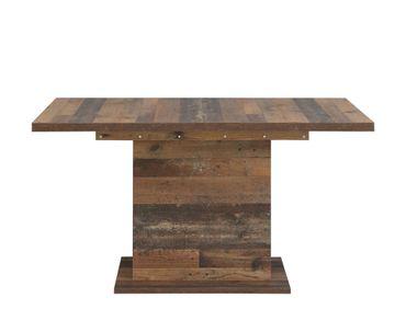 Säulentisch Cedric 16 Vintage braun 160(200)x90x77 cm Esstisch Tisch