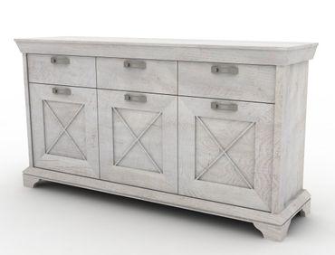 Sideboard Kasimir 12 Pinie weiß 179x96x49 cm Anrichte Wohnzimmer
