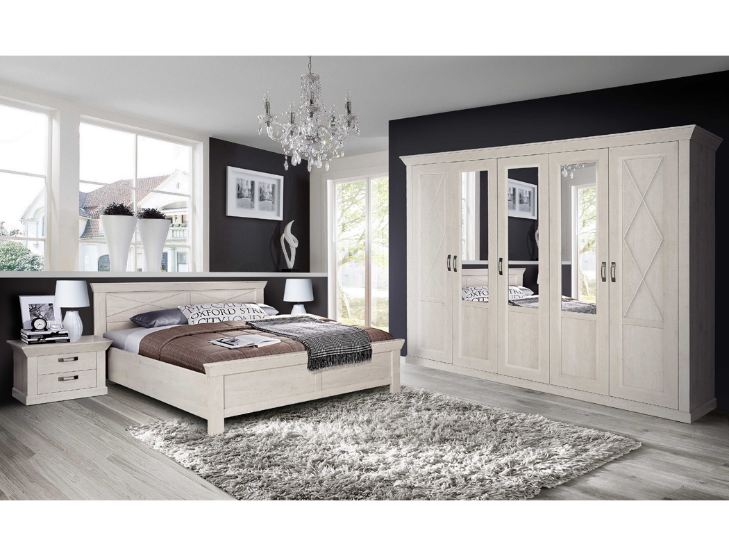 doppelbett kasimir 70 pinie wei 180x200 ehebett. Black Bedroom Furniture Sets. Home Design Ideas