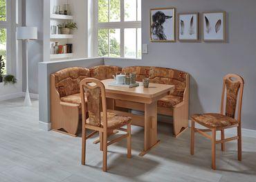 Eckbankgruppe Thalwil Buche braun Eckbank 2xStuhl Tisch Essgruppe