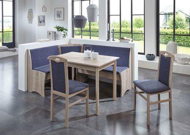 Eckbankgruppe Beringen Eiche Sonoma 165x125 cm 2x Stuhl Tisch Eckbank