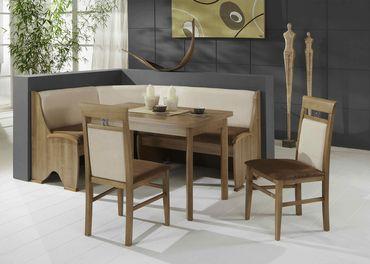 Eckbankgruppe Samantha Noce Dekor 165x125 cm 2x Stuhl Tisch Eckbank
