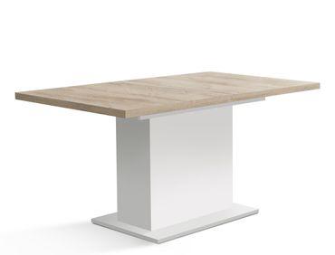Säulentisch Eike 8 weiß Eiche Bianco 160(200)x90x77 cm Esstisch Tisch