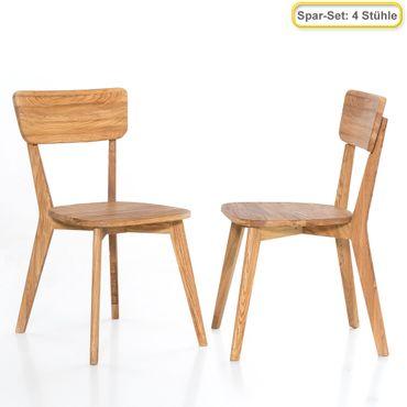 4x Holzstuhl Norina 11 Varianten Esszimmerstuhl Küchenstuhl Massivholz