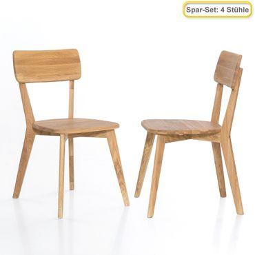4x Holzstuhl Norina 31 Varianten Esszimmerstuhl Küchenstuhl Massivholz