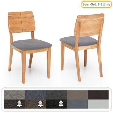 6x Holzstuhl Norea 2 Polsterstuhl Varianten Esszimmerstuhl Küchenstuhl