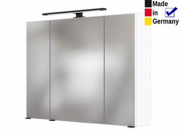 Spiegelschrank Tessin 6 weiß 80x64x20 cm Badspiegel LED